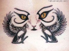 Egyptian Bastet Cat Goddess | Egyptian Cat Winged Bastet Tattoos