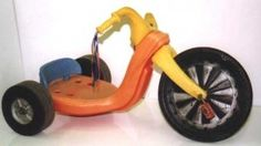 New versions of the Hot Cycle just keep coming out. I think they are awesome! 70s Toys, Industrial Design Sketch, Big Wheel, Sketch Markers, Never Grow Up, Barbie World, Tricycle, Vintage Toys, Childhood Memories