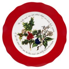 The Holly and the Ivy Portmeirion collection red plate. #HollyandtheIvy #Christmas #Christmas2016 #Portmeirion #Table #Red #Plate