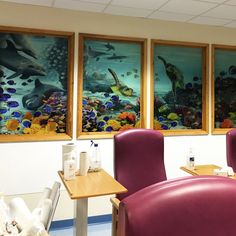 The windows with no back light. West Suffolk hospital eye clinic. Amanda Turner. Pintsizeart.com