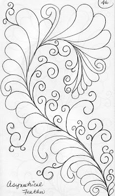 ❤ =^..^= ❤    LuAnn Kessi: Quilting Sketch Book....Asymmetrical Feathers