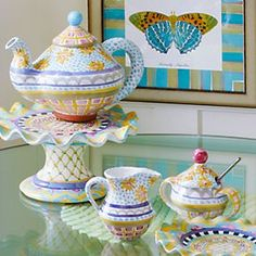 MacKenzie-Childs - MacKenzie-Childs - Handcrafted, hand painted ceramics, pottery and tableware ❤
