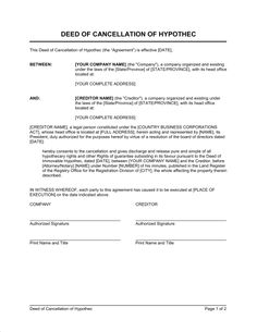 Notice of Cancellation of Contract - Template & Sample Form ... - cancellation notice form