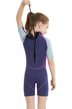 fb965b6a9c5 Canoeing - Cokar Kids Wetsuit Shorty Short Sleeve 2.5mm Neoprene One Piece  Swimsuit Boys Girls