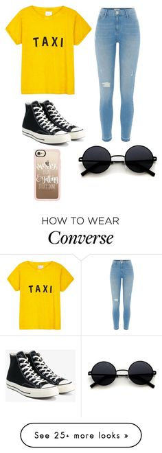 """Untitled #271"" by erumwaseem on Polyvore featuring Compañia Fantastica, River Island, Converse and Casetify"