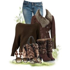 Leopard Print Boots, created by signaturenails-dstanley on Polyvore