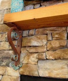Decorative Heavy Duty Hand Forged Iron Bracket Or Corbel For Mantel Support