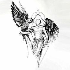 1 idées pour un beau tatouage avec des ailes d'ange que vous pouvez vraiment apprécier ▷ 1001 + Ideen für einen schönen Engelsflügel Tattoo, die Ihnen sehr gut gefallen können – - Magazine De Défilé De Mode Black Angel Wings, Black Angels, Tattoo Arm Designs, Tattoo Designs For Women, Trendy Tattoos, Tattoos For Guys, Men Tattoos, Tribal Tattoos, Geometric Tattoo Design