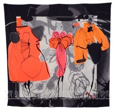 Bask in this marvelous silk scarf by Christian Lacroix...an iconic accessory for your elegant nights out!  $109 http://www.foulardworld.com/christian-lacroix-scarf/   #foulard #silkscarf #Christian Lacroix #elegant