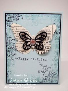 Bold Butterfly Stampin and Timeless Textures