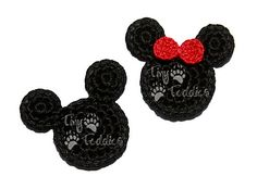 Ravelry: Mouse Head Appliques pattern by Sarah M. Jones Free pattern link
