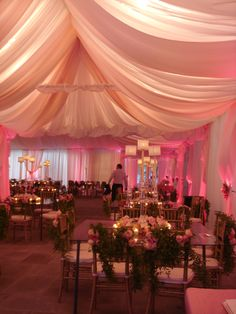 Pink drapery canopy and wall drapery under tent by .EventsPlusNashville.com at Belle Meade Country Club | Canopy Drapery | Pinterest & Pink drapery canopy and wall drapery under tent by www ...