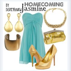 A little too much gold for me, but I love the idea of basing outfits off of Disney characters - so cute!