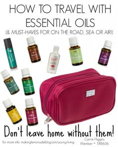 How to travel with essential oils (and the BEST oils to take with you while traveling!) Here's my must-have oils that I will NEVER leave home without again, whether I'm traveling by road, sea or air!
