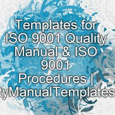 Iso  Quality Manual Template Updated To New Version