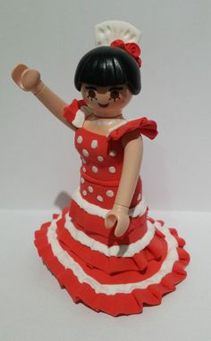 FIGURA PLAYMOBIL CUSTOM Flamenca - Flamenco Dancer - Danseur de flamenco