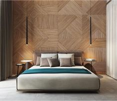 Beautiful wooden bed back by Ukraine based firm studiodenew #stunning #interiors…