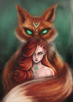 Cute Fantasy Creatures, Mythical Creatures Art, Cute Animal Drawings, Cute Drawings, Fantasy Wesen, Character Inspiration, Character Art, Photo Manga, Fuchs Illustration