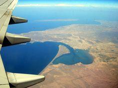 Flying over La Paz, Baja, Mexico
