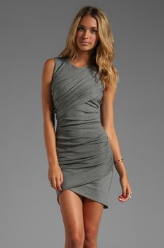 Torn by Ronny Kobo Alicaia Dress in Charcoal | REVOLVE