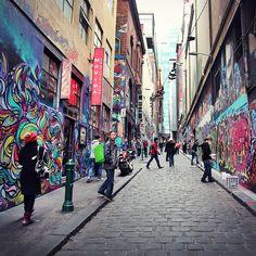 Street art in Hosier Lane, Melbourne