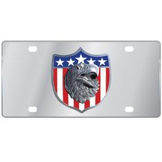 "Checkout our #LicensedGear products FREE SHIPPING + 10% OFF Coupon Code ""Official"" Patriotic Eagle Logo License Plate - Officially licensed Military, Patriotic & Firefighter product Stainless Steel License Plate Perfect for your vehicle or to hang on your wall Great way to show off your team pride Cast & enameled Patriotic emblem - Price: $37.00. Buy now at https://officiallylicensedgear.com/patriotic-eagle-logo-license-plate-splt96"