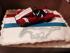 ... Mustang Cake on Pinterest  Cakes, Tire Cake and Car Cake Tutorial