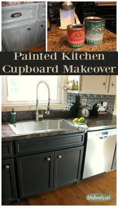 ART IS BEAUTY: Painted Kitchen Cupboards Makeover REVEAL