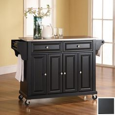 Crosley Furniture�52-in L x 18-in W x 36-in H Black Kitchen Island----Love this one