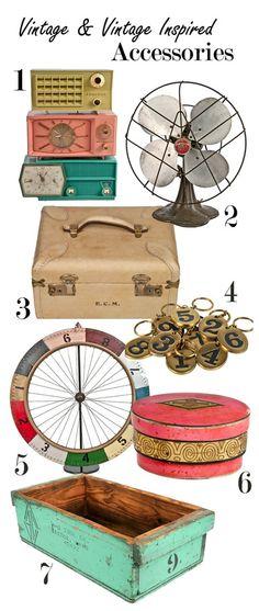 vintage accessories   via belle maison