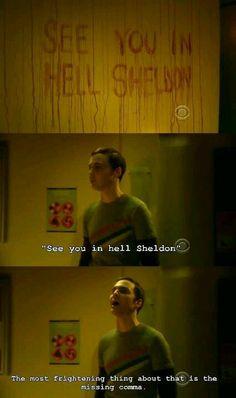 The Big Bang Theory. Sheldon Cooper❤ my thoughts exactly, bad grammar. I am a grammar Nazi The Big Theory, Big Bang Theory Funny, Funny Quotes, Funny Memes, Hilarious, Memes Humor, Funny Videos, Nerd Humor, Thats 70 Show