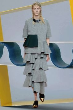 Marni AW14 sports couture MFW GIFs. More images here: http://www.dazeddigital.com/fashion/article/19006/1/mfw-aw14-gifs