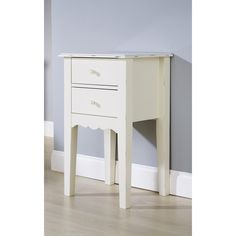 Hazelwood Home Shelly 2 Drawer Bedside Table