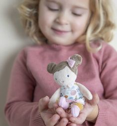 Little Dutch Rosa Knuffelpop Rainbow Bedding, Baby Kind, Dutch, Dinosaur Stuffed Animal, Teddy Bear, Children, Animals, Videos, Products