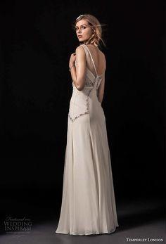 temperley london spring 2018 sleeveless v neck heavily embellished bodice vintage a  line wedding dress open back sweep train (regina) bv -- Temperley London Spring 2018 Wedding Dresses