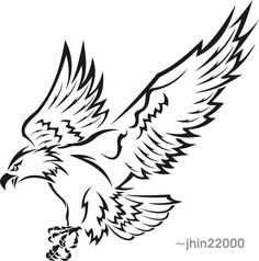 05b6f1326 tribal eagle 2 by jhin22000 Tribal Phoenix Tattoo, Tribal Eagle Tattoo,  Eagle Silhouette,