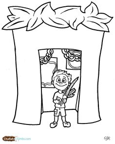 Coloring sheets coloring and crafts on pinterest for Sukkah coloring pages