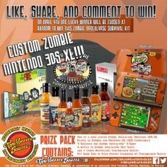Win a Zombie Nintendo 3D XL Prize Package -