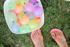 Six Simple Summer Fun Ideas - love the Hot Rocks and the Water Balloon Pinata