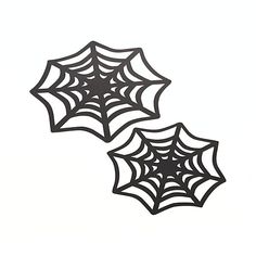 Set of 12 Spider Web Halloween Doilies  | Crate and Barrel