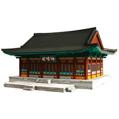 Wooden Model Cultural Properties Kits Korea Series- A Government Office 2 China Architecture, Architecture Concept Drawings, Minecraft Architecture, Korean Crafts, Wooden Model Kits, Chinese Garden, Minecraft Projects, Tree Sculpture, Japanese Culture