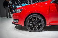 Black 16- or 17-inch alloy wheels? #SKODAIAA #RapidMonteCarlo #SKODA #IAA2015