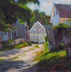 Jennifer McChristian, 'Longing for Summer' (10x10 inches, oil on panel)