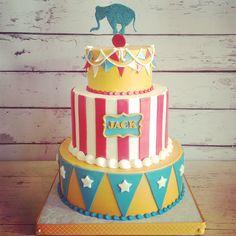 #circusbirthday #circuscake #staceyssweetscustomcakes #teambuttercream #ozarkmo Circus Theme Cakes, Circus Cupcakes, Carnival Cakes, Circus Theme Party, Carnival Birthday Parties, Circus Birthday, First Birthday Cakes, Themed Cakes, Birthday Party Themes
