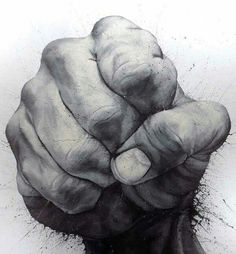Perfect drawing of a fist.