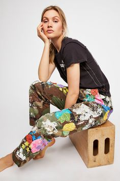 Embroidered Camo Pant | Free People