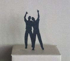 Wedding Cake Topper  same sex wedding gay wedding by Plasticsmith, $20.00
