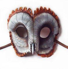 Ashy-faced-barn-owl-leather-mask
