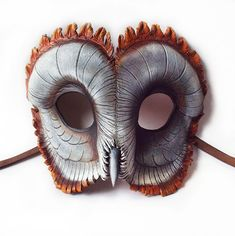 Ashy-faced-barn-owl-leather-mask
