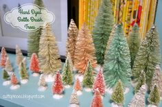 Hand Dyed Bottle Brush Tree Tutorial | Cut to Pieces | Bloglovin'